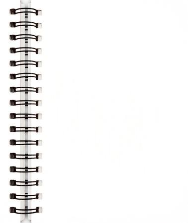 espiral: Port�til blanco Foto de archivo