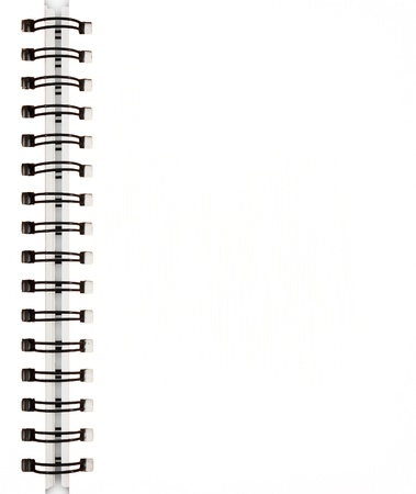 spirals: White notebook