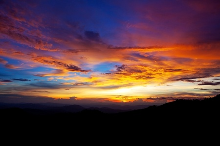 sunset in the mountains Stock Photo - 9424760
