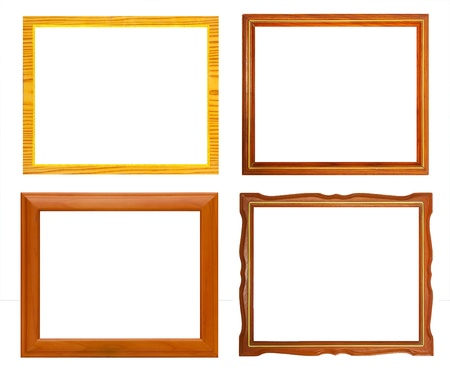 Isolate Wooden frame collection photo