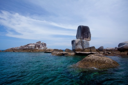Beautiful tropical beach with big stones. Thailand Stock Photo - 9443110