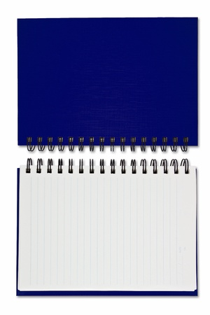 blue Blank Note Book on white background Stock Photo - 9443106