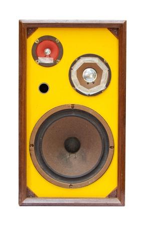 amp: old speaker isolated Stock Photo