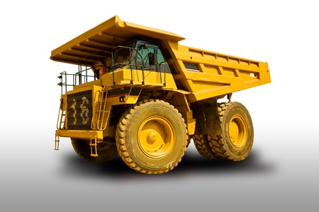 coal truck: yellow truck Stock Photo