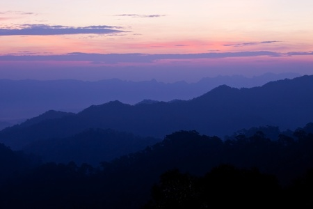 sunset in the mountains Stock Photo - 9490483