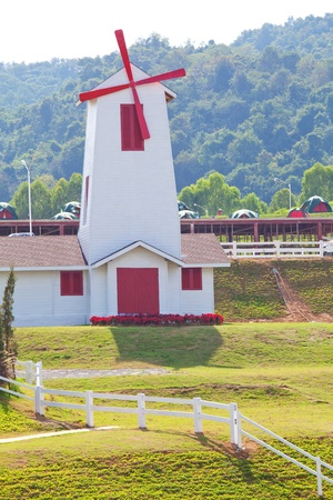 Windmill in resort of Thailand Stock Photo - 9503645