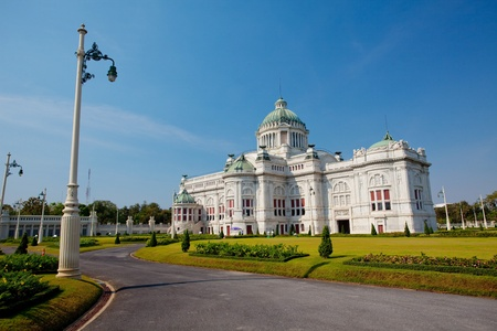 grand palace: Ananta Samakom Throne Hall in Bangkok, Thailand
