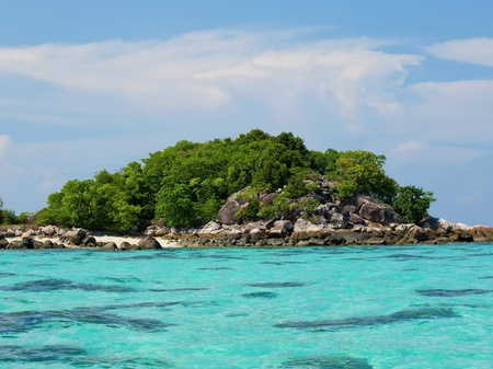Beautiful tropical beach with big stones Stock Photo - 9503555
