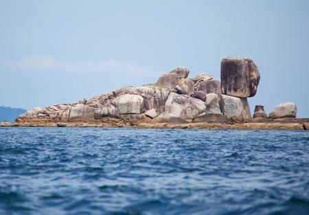 Beautiful tropical beach with big stones. Stock Photo - 9502537