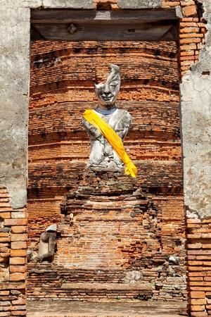 buddha in ayutthaya thailand photo