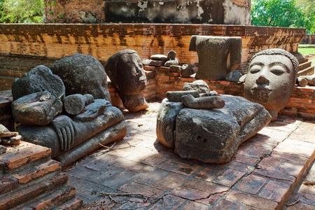 broken buddha photo