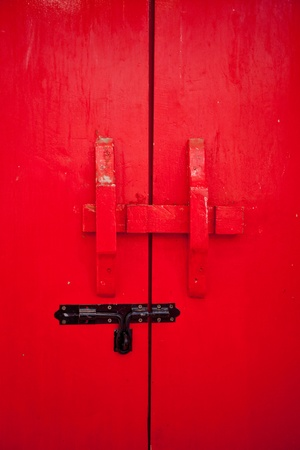 Red door photo