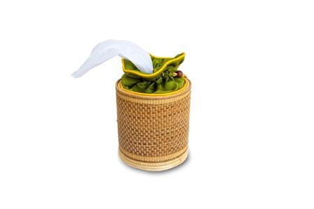 tissue box Rattan isolated Stock Photo - 9578552