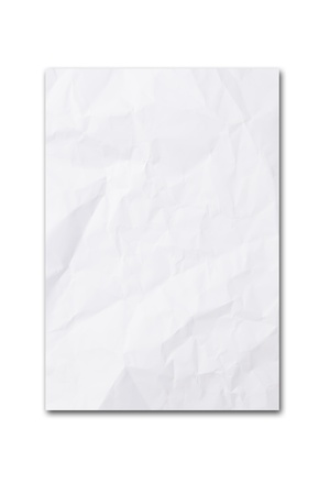 crumpled paper: blank paper