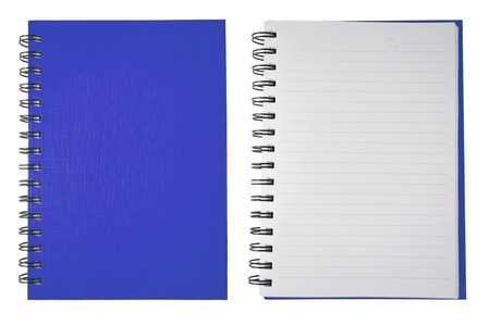 spiral book: Blue Blank Note Book Stock Photo