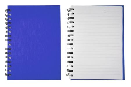 note book: Libro bianco blu di Note