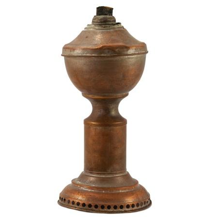Vintage lamp isolated on white background photo