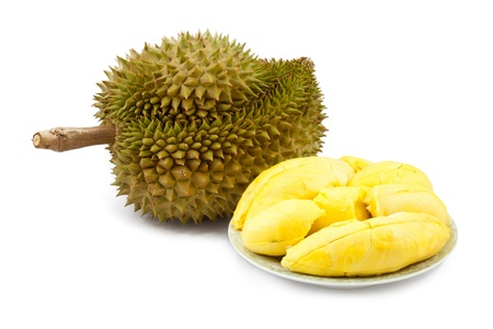 Durian isolated on white background Stock Photo - 9658790