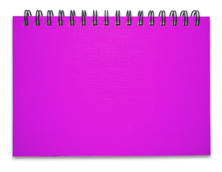 Purple notebook on the white background Stock Photo - 9658890