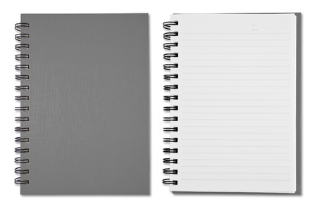 Grey Blank Note Book Stock Photo - 9659142