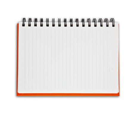 The white Note book Stock Photo - 9659277