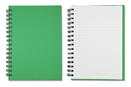 Green Blank Note Book photo