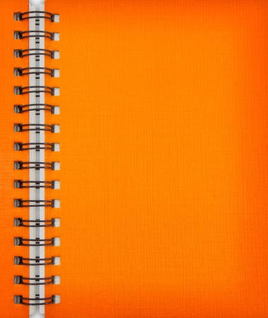 Orange notebook Stock Photo - 9659388
