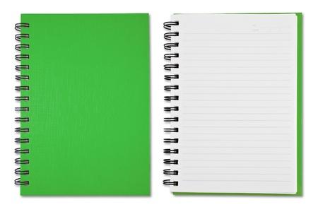 spiral book: Green Blank Note Book