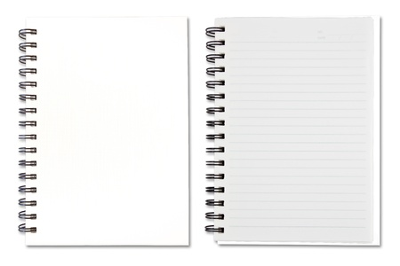White Blank Note Book Stock Photo - 9659384