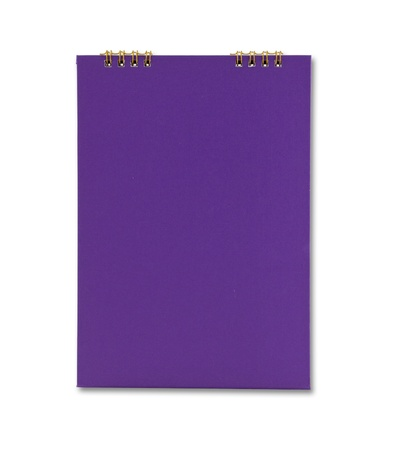 Purple notebook isolated Stock Photo - 9659321