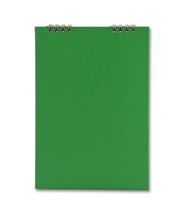green notebook isolated photo