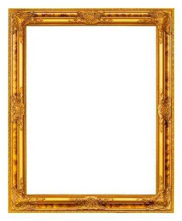 gilt: Gold frame on white background