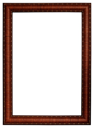 gilt: Gold and wood frame on white background