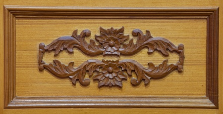 Carved wooden detail photo