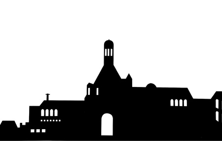 Grunge urban silhouette photo