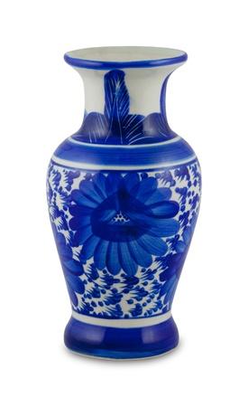 florero: jarr�n chino antiguo en el suelo de nuevo sencillo Foto de archivo