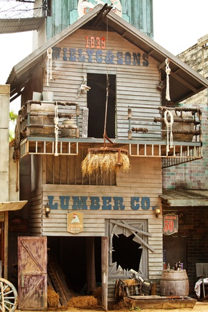 west usa: Old western style building and bar