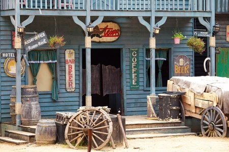 Old western style building and bar photo
