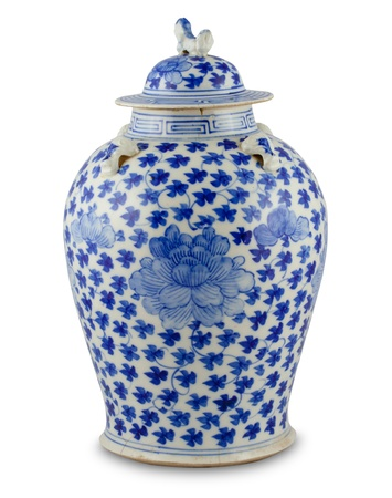 chinese antique vase on the plain back ground Stock Photo - 9837623