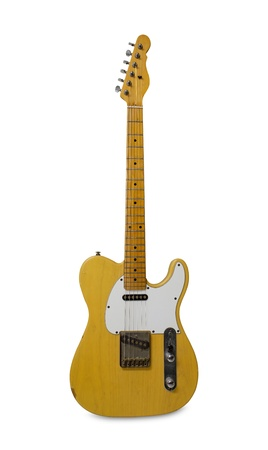 fender: Electric guitar isolated on white background