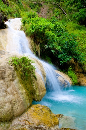 Eravan Waterfall  in Kanchanaburi, Thailand Stock Photo - 10087359