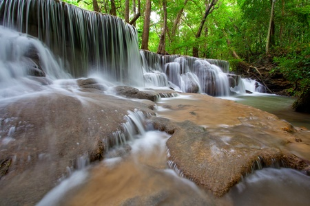 Waterfall in Deep forest ,Thailand photo