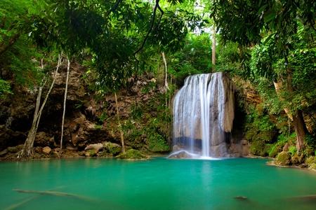 Eravan Waterfall  in Kanchanaburi, Thailand