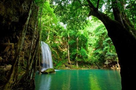 eravan: Eravan Waterfall in Kanchanaburi, Thailand