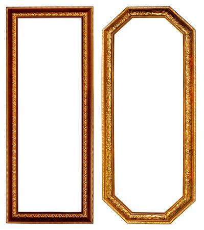 gold frame: Gold frame on white background