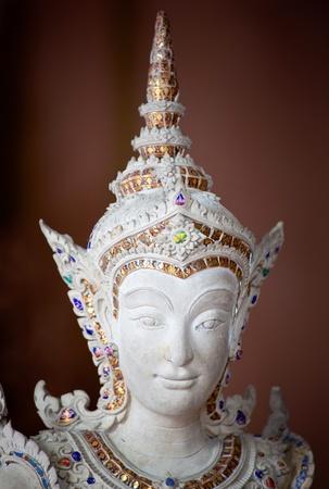 asian angel: Thai style angel statue in Erawan museum,Thailand