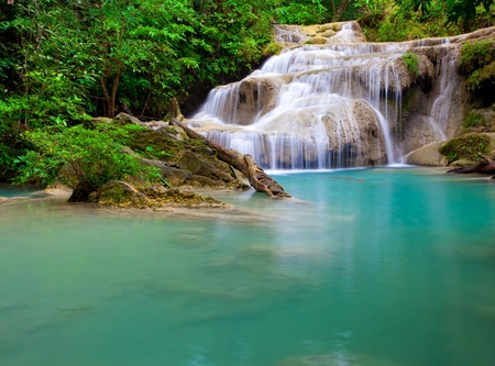 eravan: Waterfall in Thailand Stock Photo