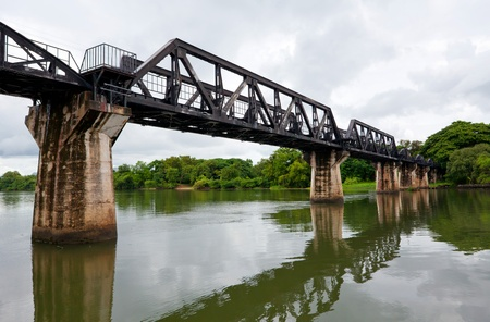 railway history: Historical bridge over the river Kwai, the death railway Stock Photo
