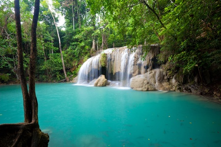 Eravan Waterfall in Kanchanaburi, Thailand Stock Photo - 11078085