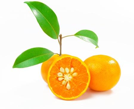 Orange isolated on white background photo